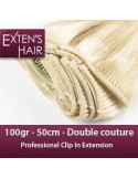 rajout extension Blond Platine