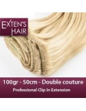 Extension Clip Cheveu naturel Blond Clair