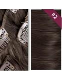 Extension en Clip Cheveu Naturel Brun Foncé