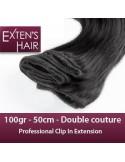 hair extension clip Cheveu Naturel Noir