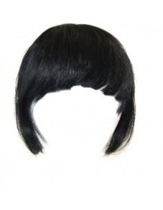 Frange Clip Cheveux Naturels Noir