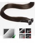 Extensions à chaud 50 cm brun-noir