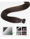 Extensions à anneaux 50 cm noir lisse