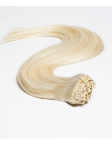Clip in extension blond platine lisse
