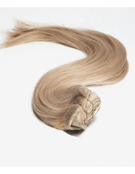 Extension à Clip Blond Miel – Extension en cheveu naturel Remy Hair, 50 cm, 110gr