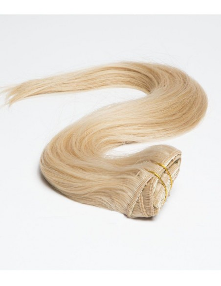 Extension à Clip Blond Clair - Extension 50 cm 110gr cheveux naturels 100% Remy Hair