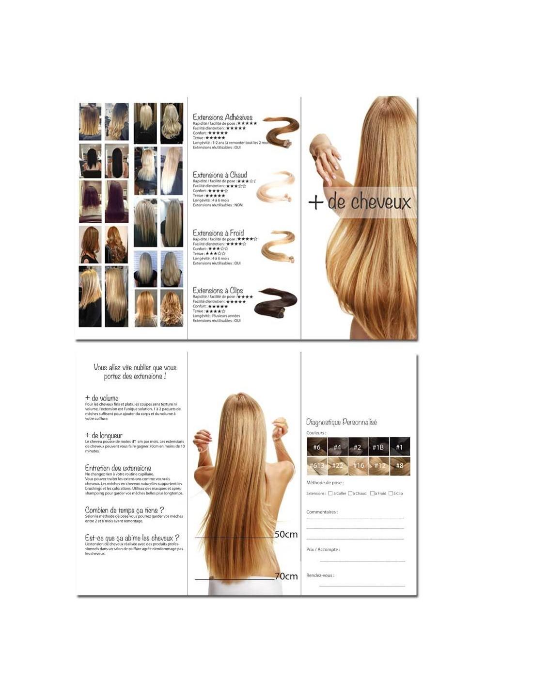 publicit extension de cheveux pour salons de coiffure