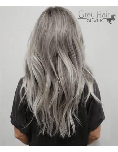 extensions adhésives de cheveux Silver gris