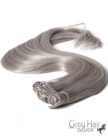 Extension à Clip cheveux Silver – Gris 50 cm