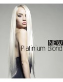 Extension à chaud blond platine lisse