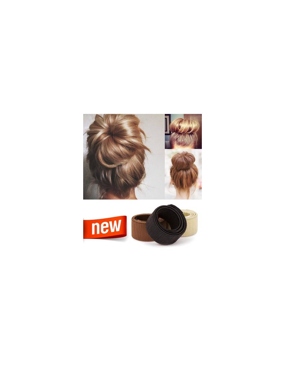 chignon bun facile rapide extens hair. Black Bedroom Furniture Sets. Home Design Ideas