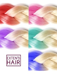 Extension cheveux tie and dye ombr hair extensions cheveux - Tie and dye blond platine ...