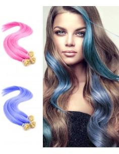 Extension kératine cheveux naturels couleurs flashy