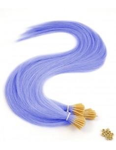 Extensions à froid Rose - mèches rouges -cheveux violets - extensions de cheveux naturels multi colors