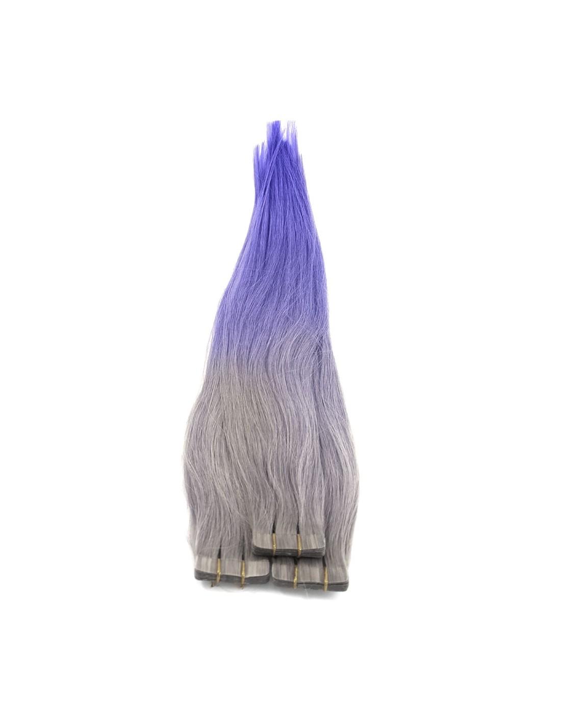 grau tape haarverl ngerung echthaar ombr hair extens hair. Black Bedroom Furniture Sets. Home Design Ideas
