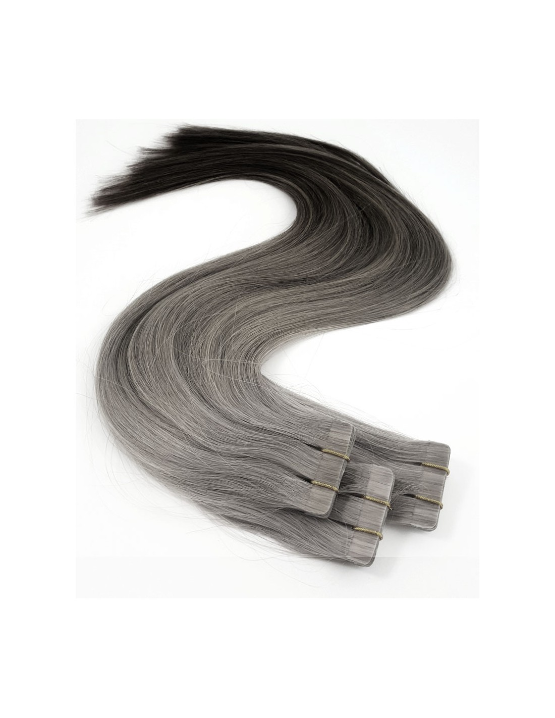 extensions de cheveux gris silver adh sives ombr hair crazy color. Black Bedroom Furniture Sets. Home Design Ideas