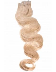 extensions tape blond clair ondulées