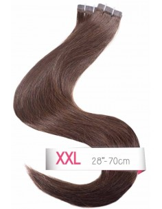 tape hair extensions marron brun foncé