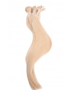 extensions à chaud blond
