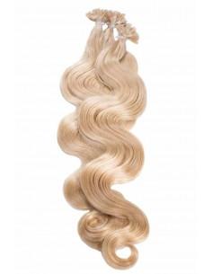 Wellige Haarverlängerung Bonding