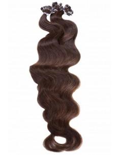 Wellige Haarverlängerung Braun Bondings
