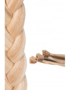 50 extensions à chaud méchée Blond Clair Cendré