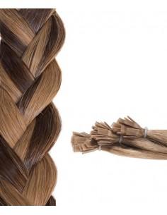 Châtain Clair Chocolat cheveux naturels remy hair