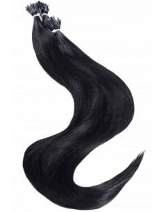 Extension de cheveux à froid Noir éclatant