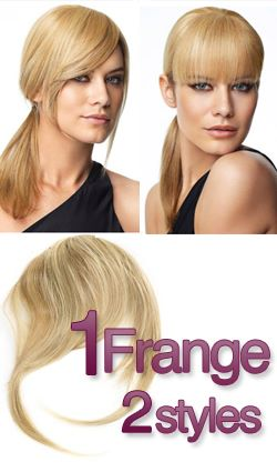 frange clip naturel blonde platine extension clip extens hair. Black Bedroom Furniture Sets. Home Design Ideas