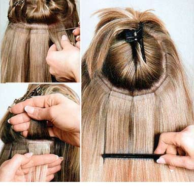 tape hair tutoriel extension adhésive