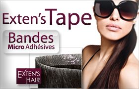 extension cheveux clip adhesifs