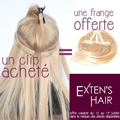 extension de cheveux en clip promo