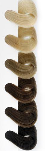 couleurs des rajouts de cheveux