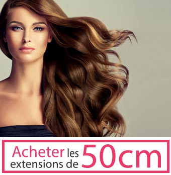 extensions de cheveux 50 cm de long