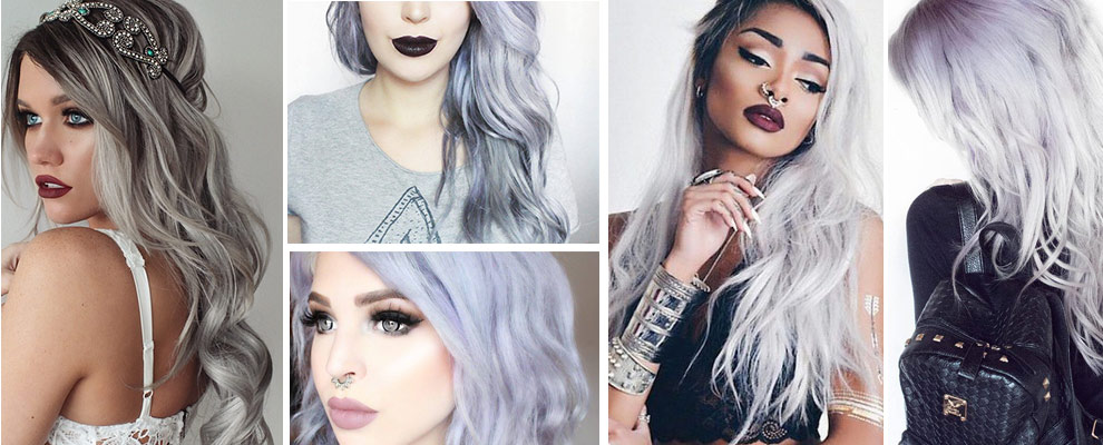 Cheveux gris crazy color