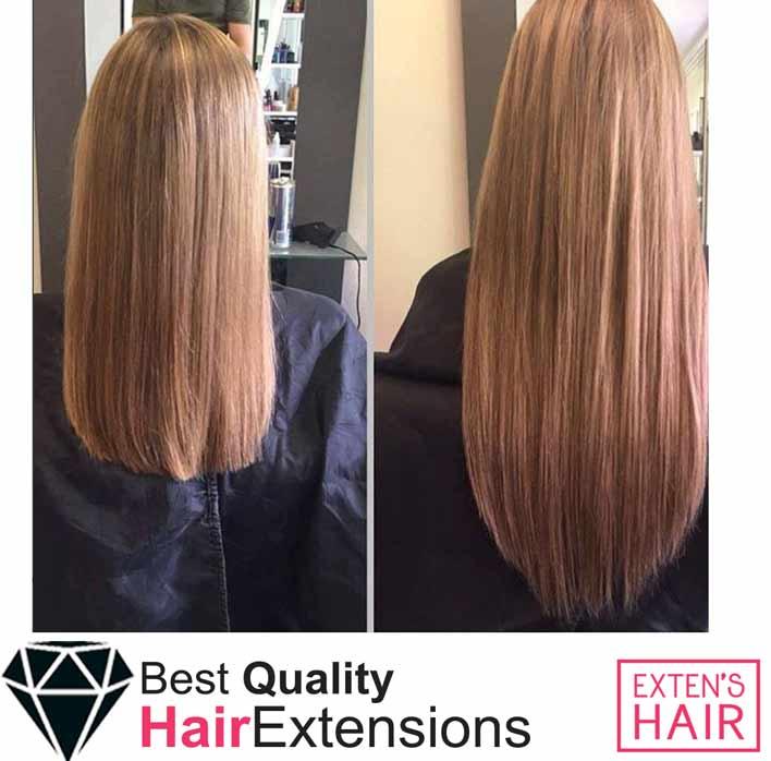 Extensions de cheveux à coller, cheveux naturels remy hair blond