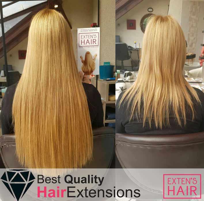 rajouts de cheveux naturels remy hair blond