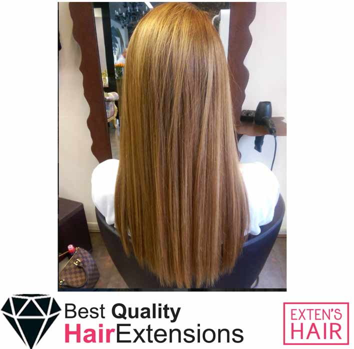 Extensions à coller cheveux remy hair blond