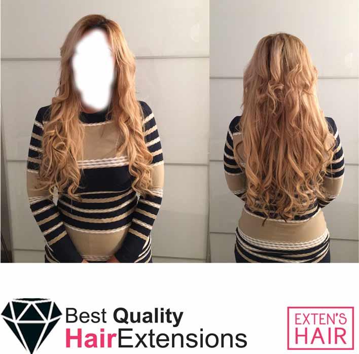 Rajouts de cheveux naturels remy hair blond miel