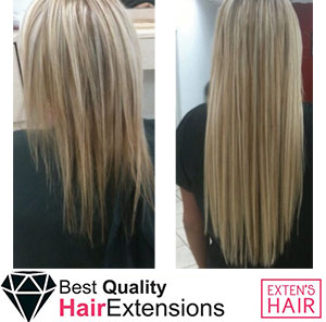 Extension tape hair, rajouts de cheveux naturels remy hair blond