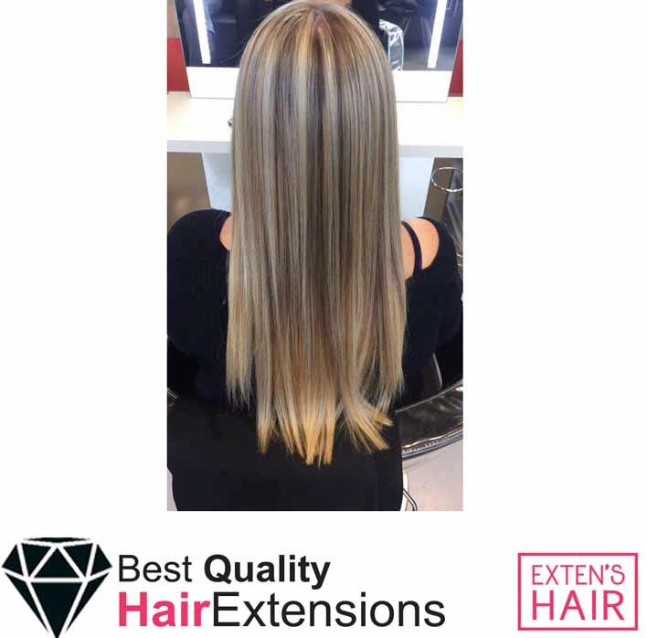 Extension adhésive Cheveux naturels remy hair mèches blond caramels mèches à coller