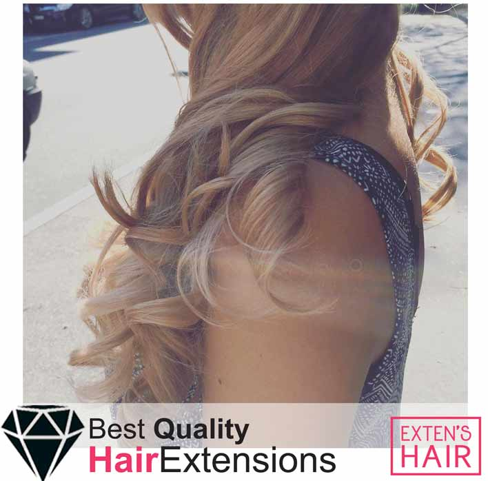 Extensions adhésives remy hair blond caramel