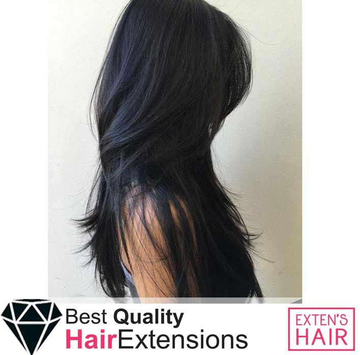 extensions à anneaux cheveux noirs naturels