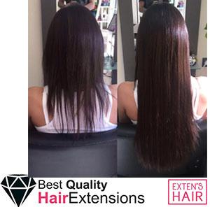 extensions à froid cheveux noirs
