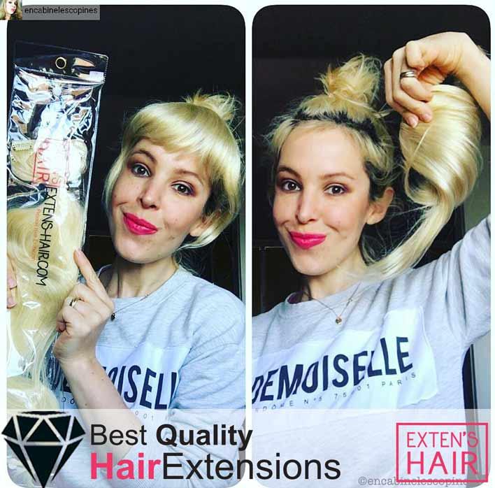 Remy hair Extensions de Cheveux naturels à Clips