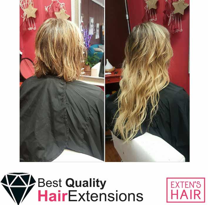 Tape Hair Blond, Clair Extension de cheveux naturels