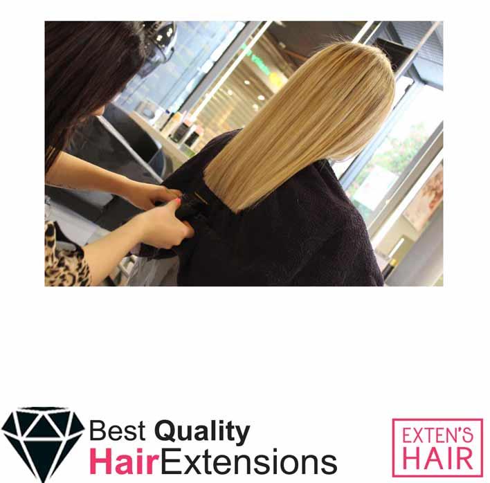 Extension cheveux naturels Blond Clair remy hair