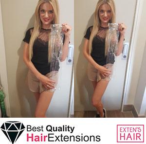 Extension de cheveux naturels Tape Hair Blond Clair