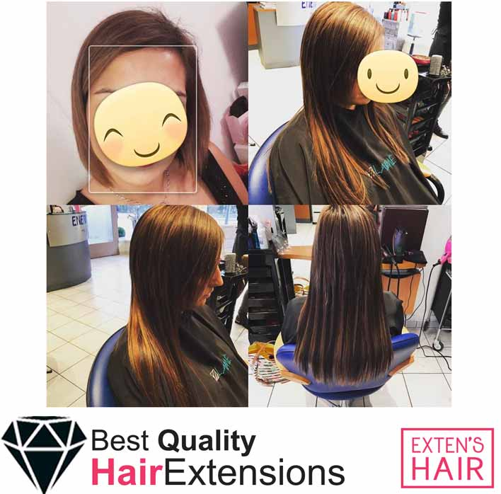 Extensions adhésives Remy Hair Marron #4