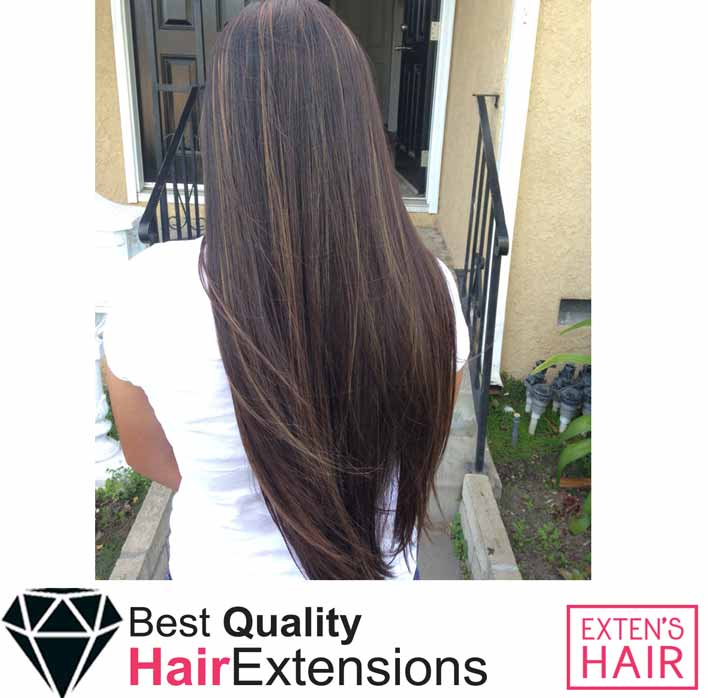 Cheveux naturels Extensions adhésives